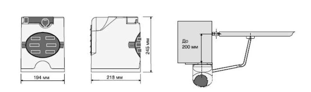 Рычажной привод для ворот серии FAST схема