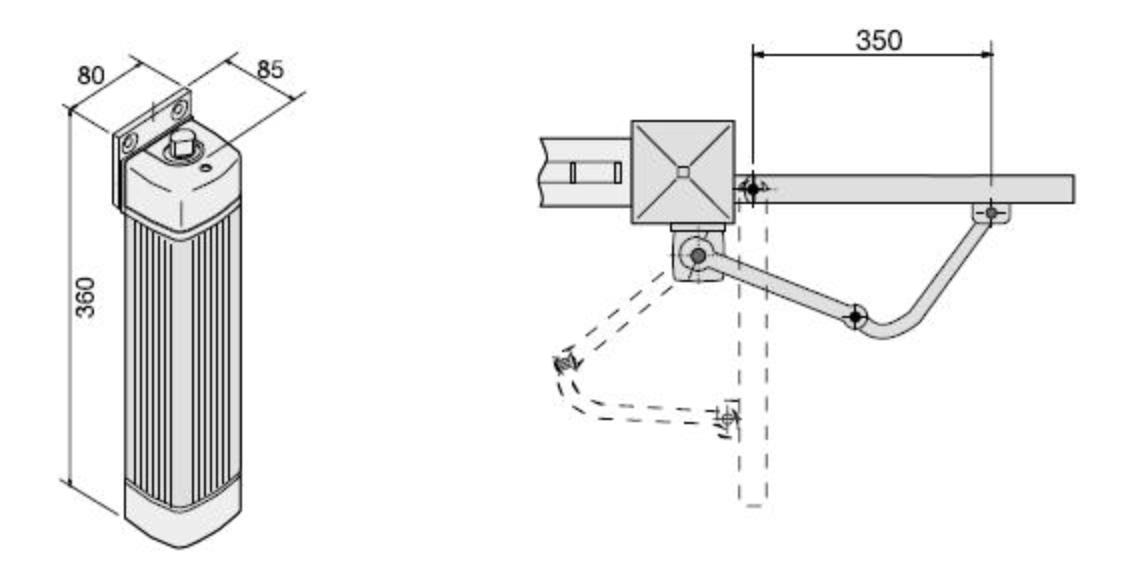 Механизм для ворот серии FLEX схема