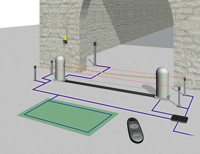 Схема цепного барьера