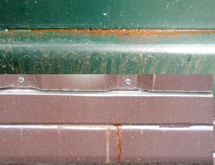 Корозия сварных стыков ворот фото