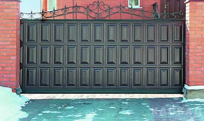 Відкатні ворота приклад