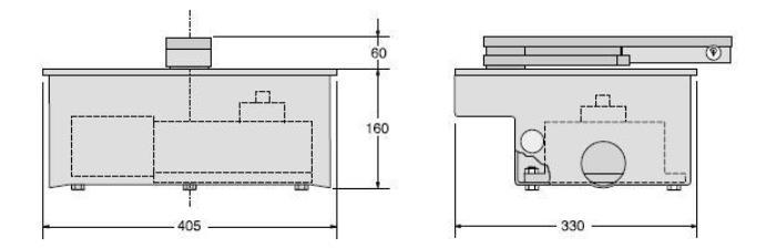 Схема приводу двостулкових воріт серії FROG