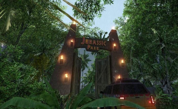 Кадр з фільму. Двостулкові ворота