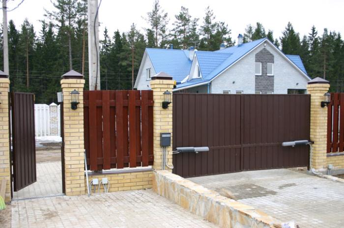 Двостулкові ворота приклад